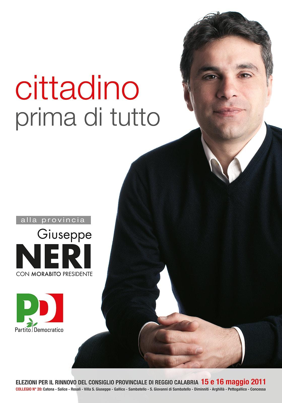 Manifesto elettorale Giuseppe Neri Alessandro Mallamaci