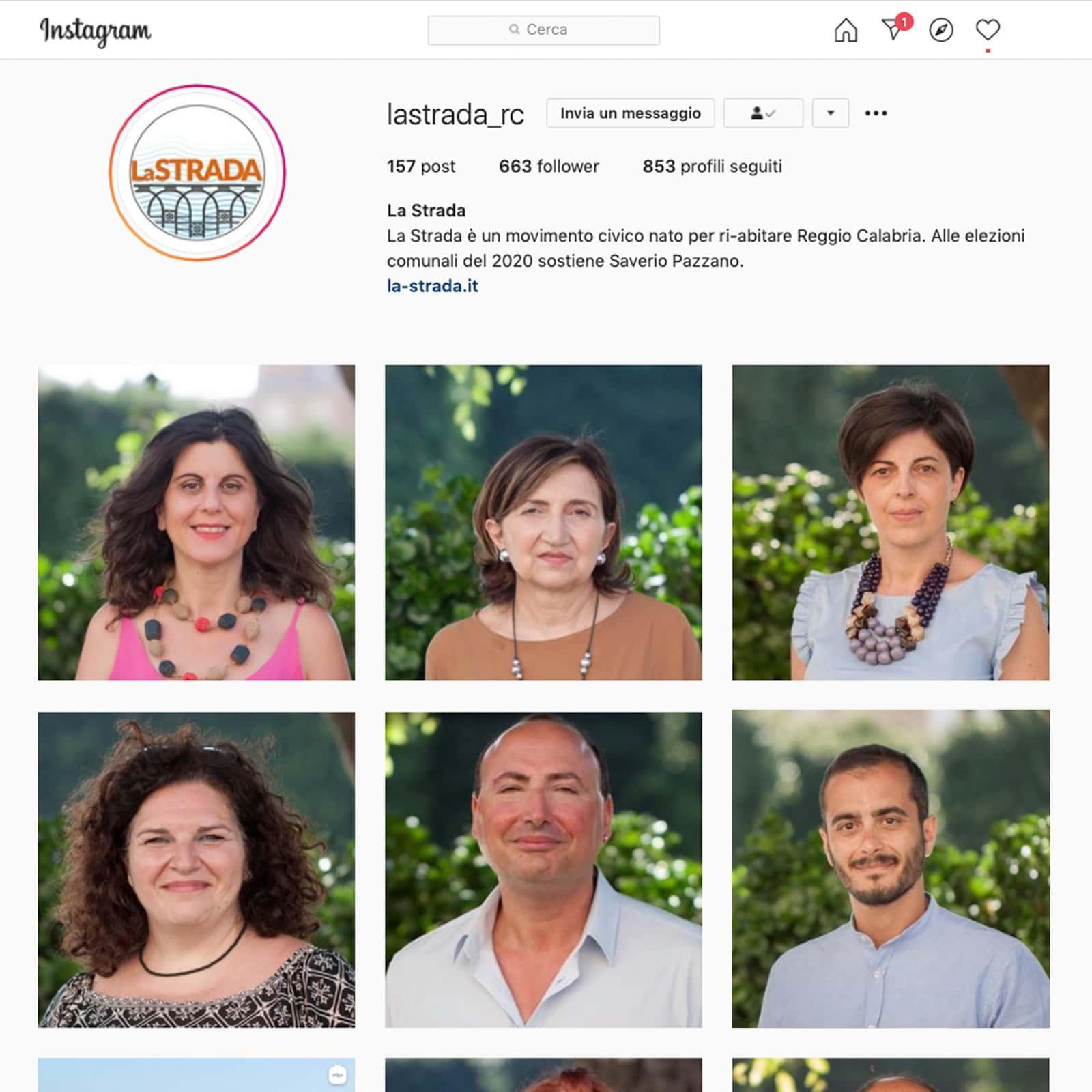 Instagram_ La strada_Sindaco Pazzano_Comunicazione politica